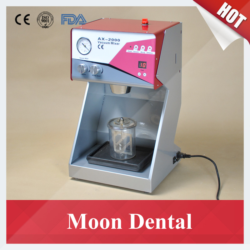 Digital Touch Controlled Dental Lab Equipment Stepless Speeds AX-2000C+ Vacuum Mixer with Built-in Vibrator and 2 Mixing Beakers dental accessories 550ml 750ml mixing beaker mixing cups for dental vacuum mixer in dental labs