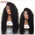 Best Soft 150 Плотность Человеческих Волос Странный Вьющиеся Full Lace Wig бразильские Волосы Девственницы Glueless Kinky Вьющиеся Полный Шнурок Человеческих Волос Парики