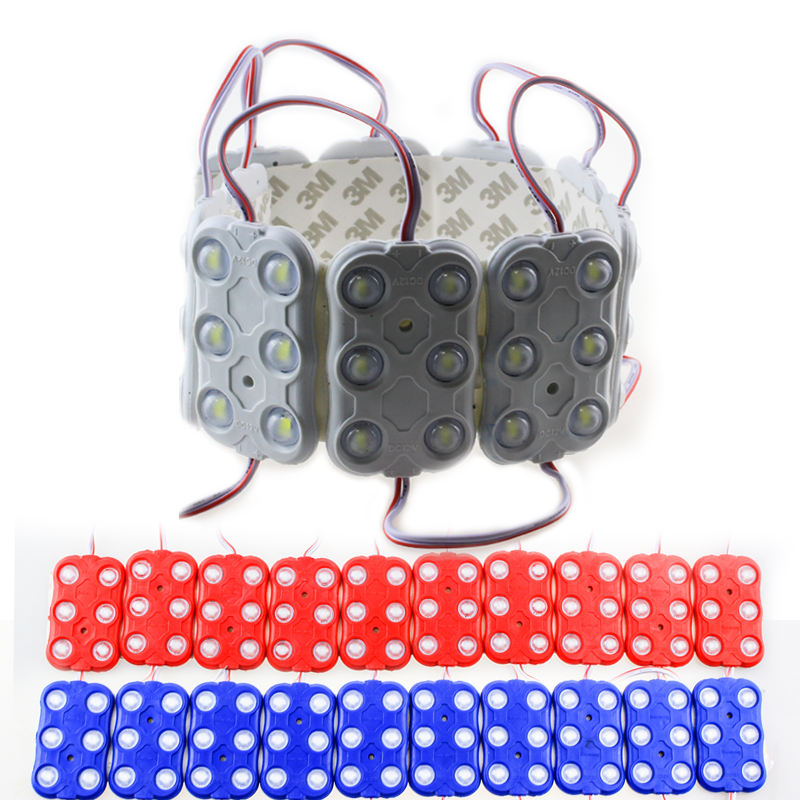 300pcs 5730 Injection Led Module Dc12v 6 Leds 3w Waterproof Outdoor Light Backlight With Lens 160 Degree For Billboard Led Modules