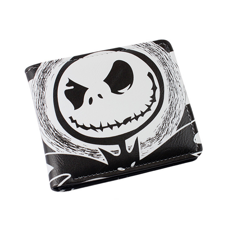 The Nightmare Before Christmas Sally Jack Skellington Dr. Finkelstein Santa Multilayer colorful PU short wallet Type A long style pu wallet of the nightmare before christmas skull jack with button and multi layer