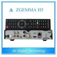 3ピース/ロット新しい高cpu hevc/h.265 dvb-s2 + t2/cハイブリッドツインチューナーzgemma h5 fta BCM73625デュアルコアlinux os e2衛星受信
