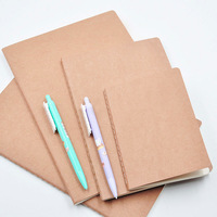 A4 B5 A5 A6 36K 48K School Students Notebook 30 Sheets Brown Kraft Student Composition Book