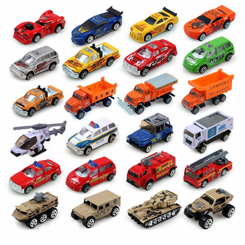 buy 24 styles mini sliding alloy car truck model children toys fire engine. Black Bedroom Furniture Sets. Home Design Ideas