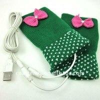 хорошие подарки женщины зимние перчатки с USB теплый