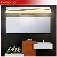 GETOP Modern Simple Mirror Front Wall Lamp Waterproof Fogproof LED Rectangle Makeup Light Bathroom Toilet Dressing Room Lamps