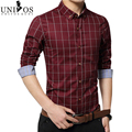 Chemise Fashion 5xl 2016 Brand New Long Sleeve Plaid Shirts Fashion Dress Men Shirt Slim Chemise Homme Grande Taille Z2111