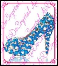 Aidocrystal new spring summer frau strass high heels schuhe hochzeit schuhe braut grün plattform partei schuhe für frauen