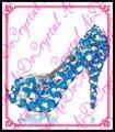 Aidocrystal nueva primavera verano mujer rhinestone tacones altos zapatos de la boda zapatos de novia zapatos de plataforma del partido verde para las mujeres