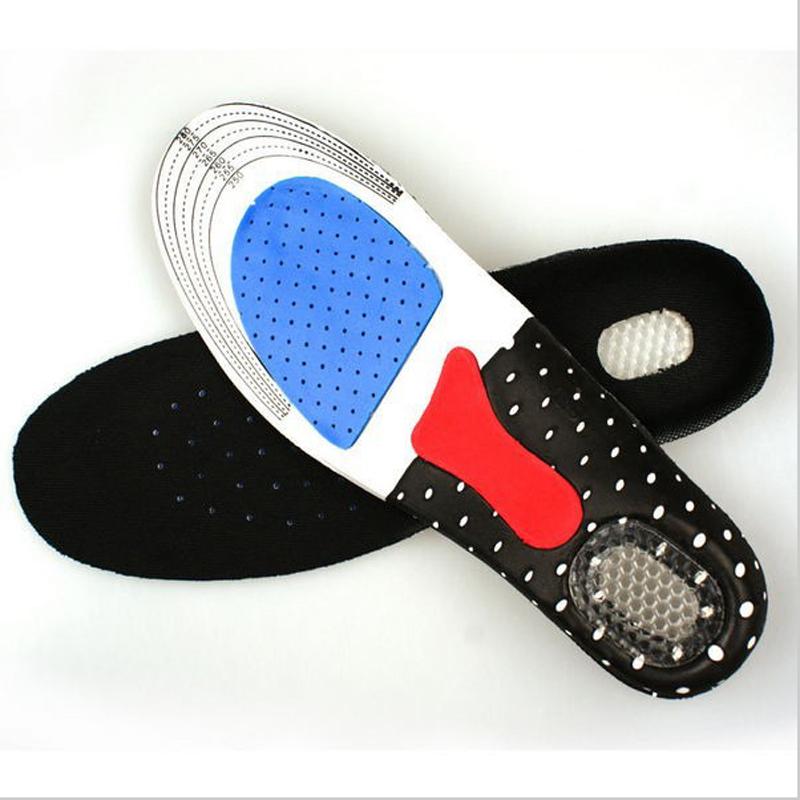 100pcs/lot woman man Sports Massaging Silicone Gel Insoles Arch Support Orthopedic Plantar Fasciitis Running Insole For shoes expfoot orthotic arch support shoe pad orthopedic insoles pu insoles for shoes breathable foot pads massage sport insole 045
