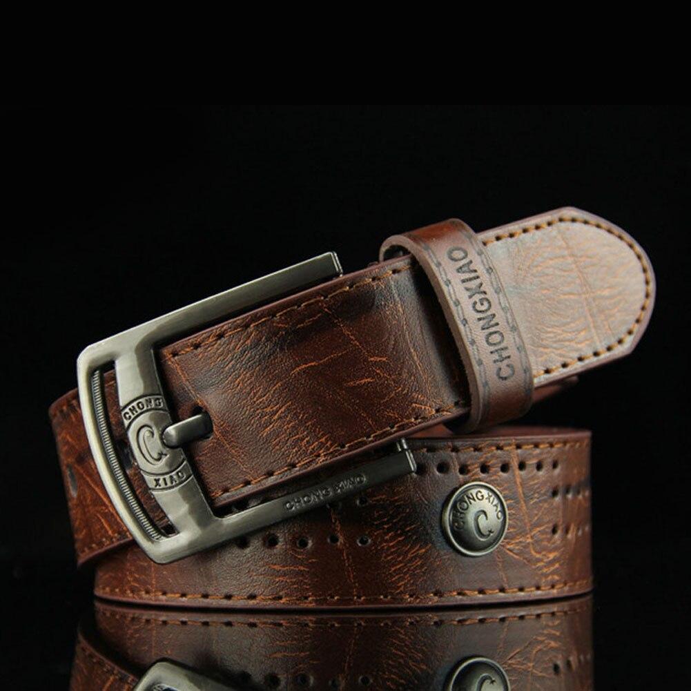 2017 New Men's Hip Hop Style Antique Pin Buckle Belt Pu Men's Casual Fashion Belts