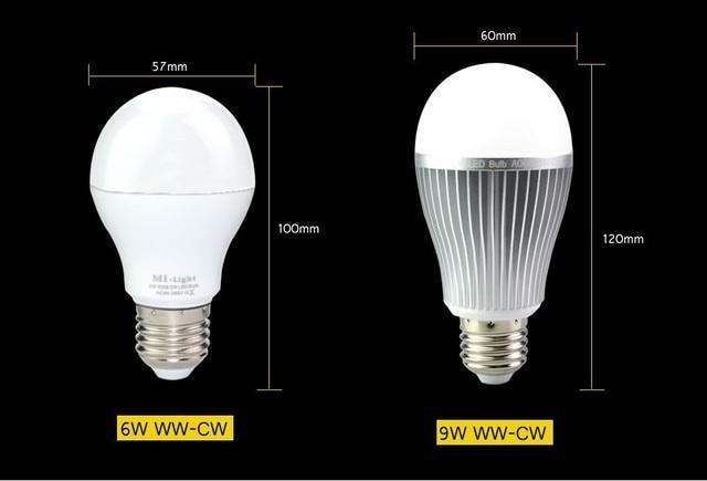 Mi luz e27 6 w 9 w lâmpadas led 2.4 g wi fi sem fio regulável branco
