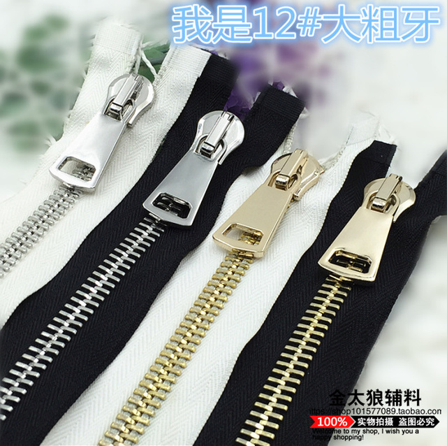 12# metal zippers for sewing brass zip for bags luggages jacket tent home textile 1piece & 12# metal zippers for sewing brass zip for bags luggages jacket ...