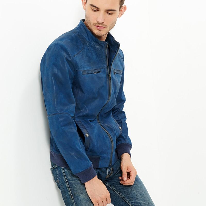 2016 Men's real leather jacket pigskin Genuine Leather jacket men ...