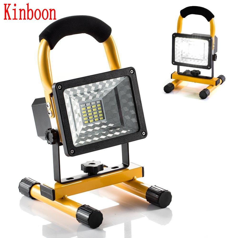 New Rechargeable LED Floodlight Portable Spotlight Movable Outdoor Camping Light 24led with 3*18650 Batteries Power+AC Charger
