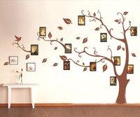 1 компл. высокое качество коричневый фоторамки дерево стикер стены для гостиная спальня телевизор фоне большой размер домашнего декора виниловые наклейки