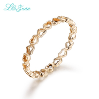 I Zuan 14K Gold Heart To Heart Prong Setting Classic Top Quality Ring Jewelry For Woman