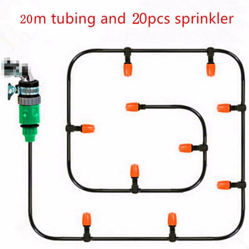 20 meter 4/7mm schlauch Anzug Hause Garten Automatische Micro Drip Bewässerung Bewässerung Kit Micro Spray Anzug Saving bewässerung Systeme