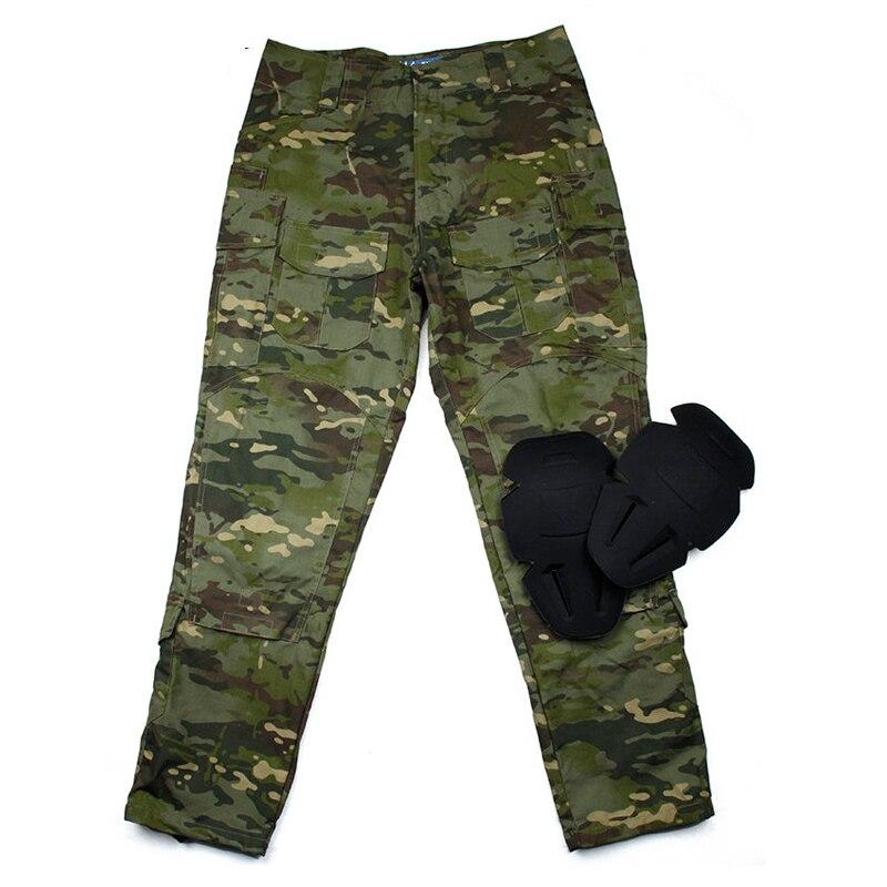 MTP G3 Ripstop pantalon de combat avec protection du genou/armée tactique Ripstop pantalon Multicam tropique