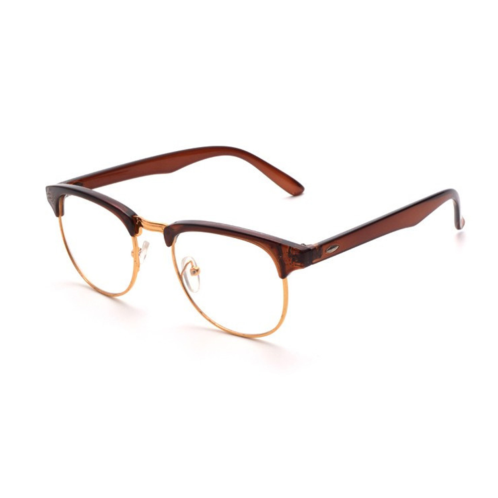 517808ee81b Half metal frame classic eyeglasses women men retro vintage unisex jpg  1001x1001 Big metal frame glasses