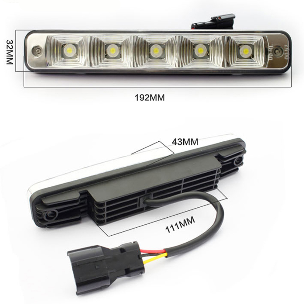 2pcs/lot car-styling super white LED Daytime Running Light Led Car Waterproof Universal DRL Auto Driving Lamp or Universal Car