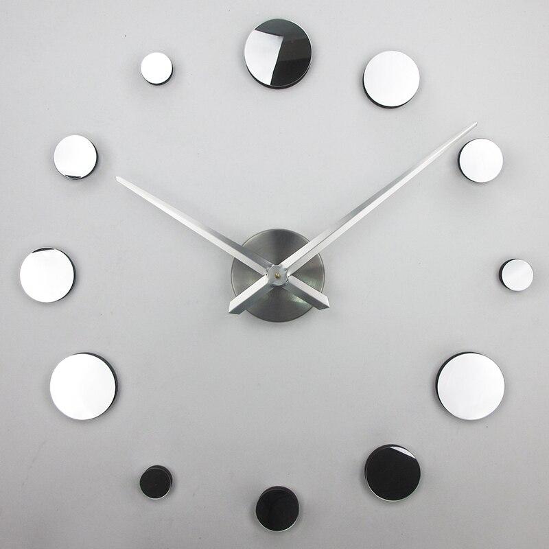 large wall clock modern design silent 3d wall decor clock ...
