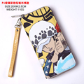 Surgeon of Death Trafalgar Law Colorful Cool PU Long Style Anime One Piece Wallet/Purse with Zipper