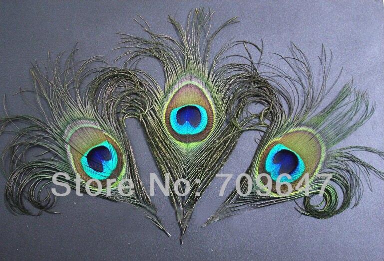 50 шт./лот 12 см Длина Природа Цвет фигурных Павлиний глаз перья для украшений Интимные аксессуары