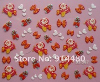 3д ожерелье маникюр знаки название crashing, 24 стиль, 2400 комплект / много