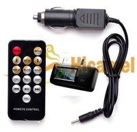ФМ с автомобильного зарядного устройства дистанционного управления для iPhone яблока 4 4S 3 г 3GS с iPad на iPod серии бесплатная доставка
