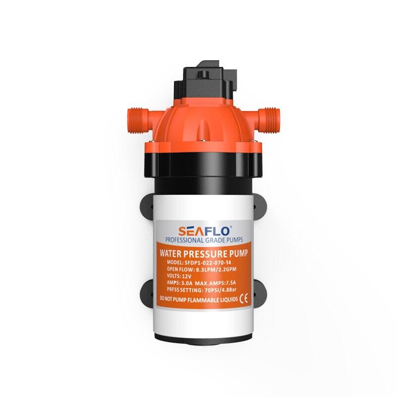 NEW SEAFLO Self Priming 3 Chamber Positive Displacement Diaphragm Pump Beverage/Food Service new seaflo 12v self priming bilge pumps 8gpm 30lpm
