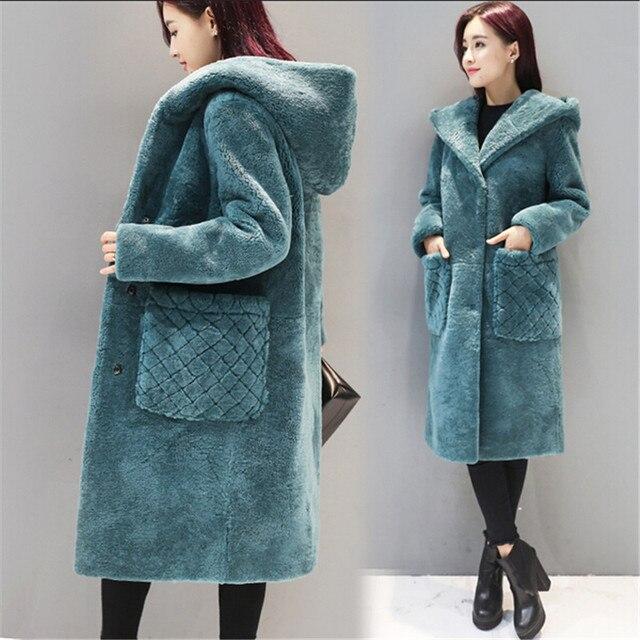 eb446d4eec32eb Große größe wintermantel Frauen winterjacke Mit Kapuze Lämmer wolle Lose  Neueste Mode Hohe qualität Junge frauen