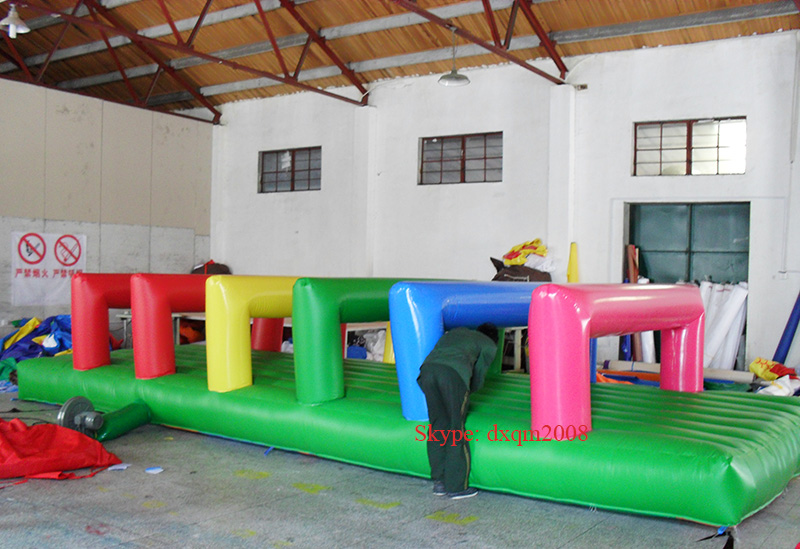 2016 colorful inflatable sports game inflatable jumping bed inflatable font b entertainment b font playground