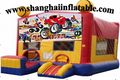 2016 high quality large trampoline inflatable  bounce house /indoor and outdoor inflatable playground