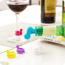 7 pcs Set of Silicone Cup Markers and bottle stopper