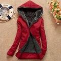 2016 Outono e Inverno As Mulheres Hoodies Fleeve Camisola Ocasional Engrossar Quente Casaco Feminino Outerwear Jaqueta Plus Size 68