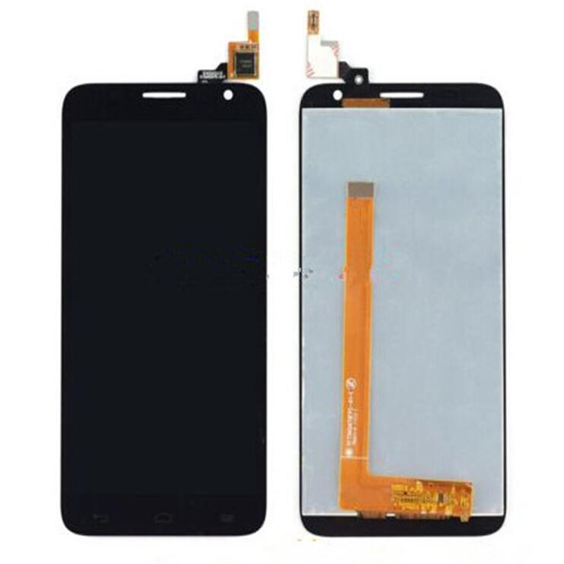 ФОТО New Original Black Touch Screen Digitizer Glass Sensor+LCD Screen For Alcatel One Touch Idol 2S OT6050 6050 LCD Replacements