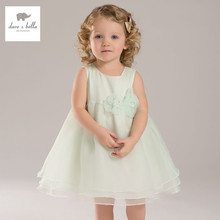 DB3278 dave bella summer baby girl wedding dress girls costumes baby fairy princess dress birthday party dress