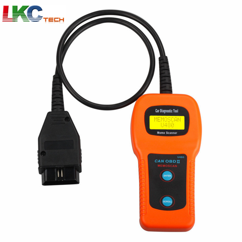 Best Quality U480 OBD2 OBDII CAN BUS Code Reader Engine Scanner Automotive Diagnostic Scanner Tool Free Shipping