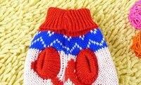 10 шт./лот 100% акрил домашнее животное свитер собака кошка одежда ткань свитер appreal одежда маленькая собака ткани цвет в случайном