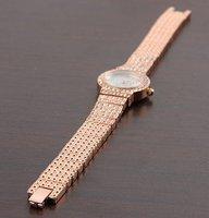 стиль 100% отличная в кристалл гр rustle женщины золото Rose часы 1 шт