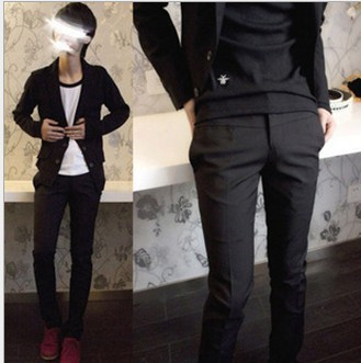 black men suit pants formal business attire men s wear trousers male