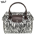 ZIWI Brand 2 Colors New Women Handbags Vintage Flower Animal Print  Designer Folding Bag Fashion Handbag QQ1698