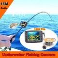 Eyoyo 1000tvl cámara pesca submarina hielo buscador de los pescados 15 m cable 4.3 ''color lcd monitor 8 unids ir led