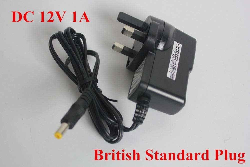 цена на 2016 Top 10  2pcs Security  AC110V-240V  DC12V 1A BS Plug Transformer Power Adapter cheap price