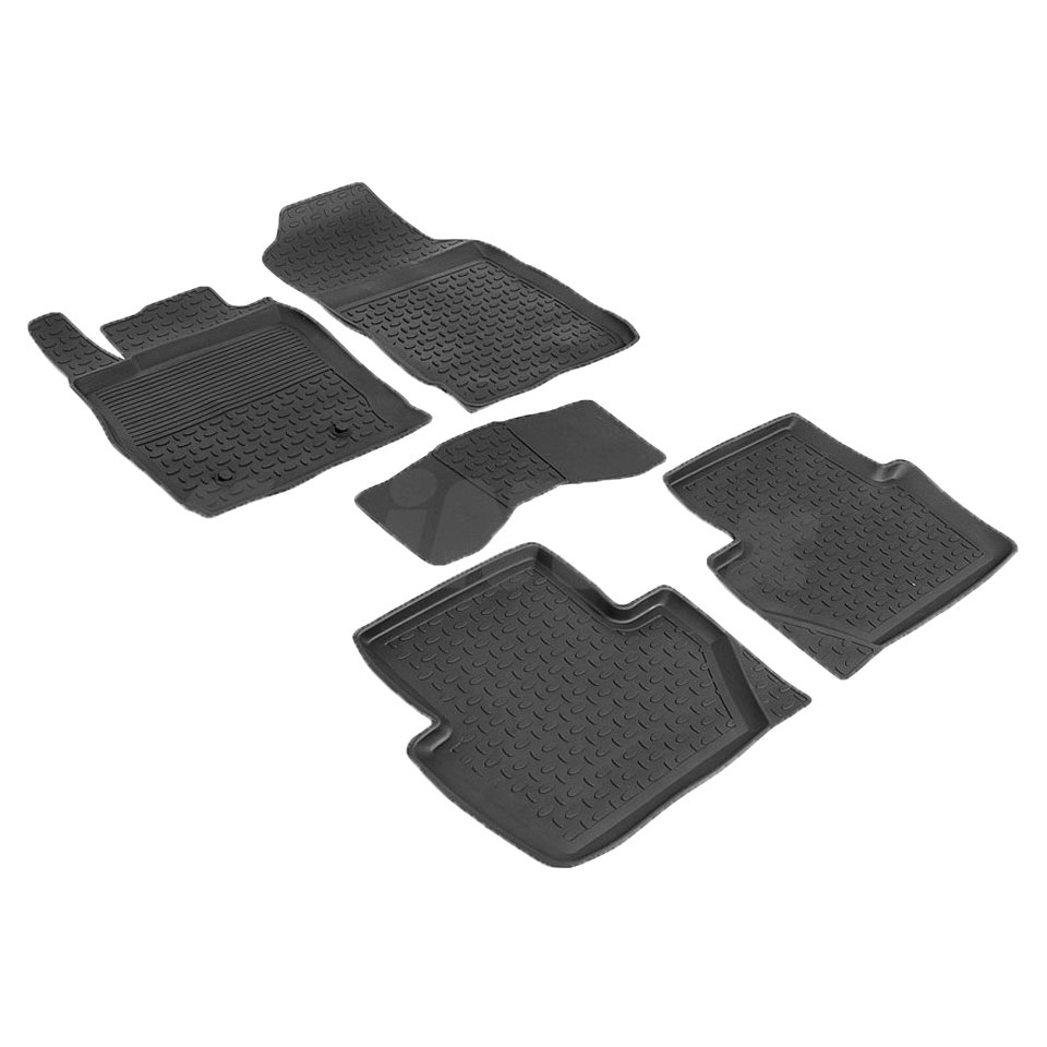 лучшая цена For Ford EcoSport 2014-2019 rubber floor mats into saloon 5 pcs/set Seintex 86187