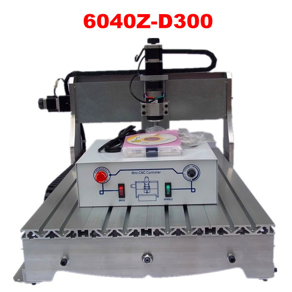 Russia no taxes cheap hobby CNC 6040Z-D300 6040  Router Engraver/  wood milling machine no tax to eu 6040 z d300 4axis 110v 220v cnc milling machine cnc router usb adpter