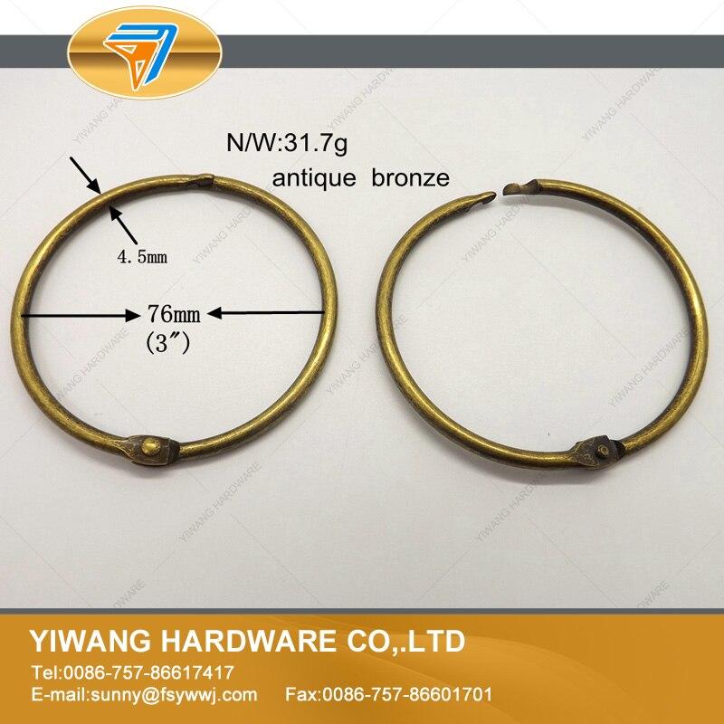 o anel de bronze anel de cortina anel pendurado anel calendario duravel 10 pcs por conjunto