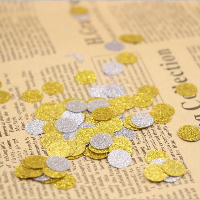 ed04ad49ad0 Glitter confetti, cirkel stoten, zilver goud bruiloft confetti party decor,  gestanst