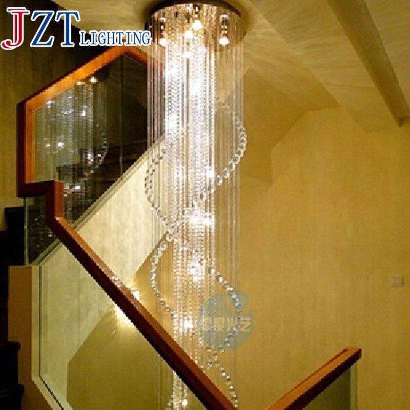 ZYY лучшая цена светодиодный подвесные светильники принадлежности K9 с украшением в виде кристаллов одвесных проводов светильники из нержав