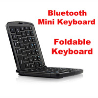 Bluetooth Foldable Mini Keyboard For Mobile Phone Tablet Pad Laptop Smart TV White Black Portable Keypad